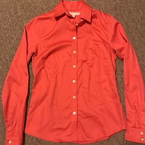 Banana Republic Non-Iron Fitted Button Down Coral